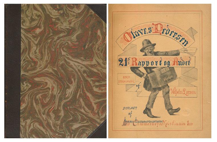 (SINDING-LARSEN, ALFRED:) 21s Rapport og Andet. Med Tegninger af Wilhelm Larsen.