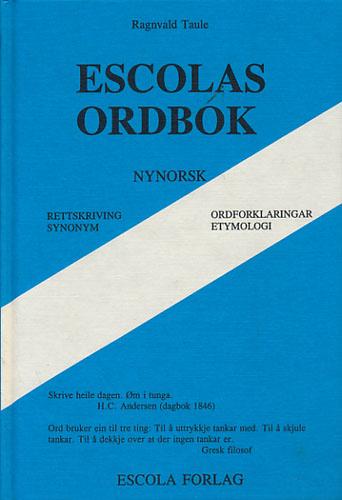 Escolas ordbok. Nynorsk.