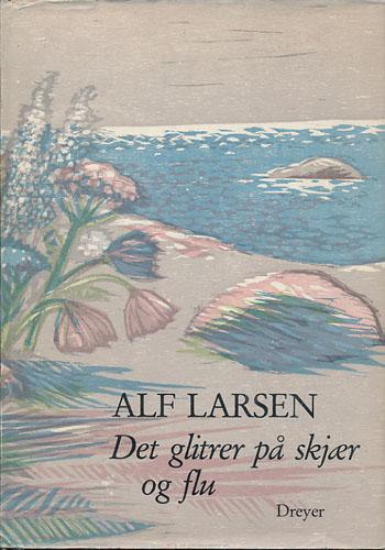 Det glitrer på skjær og flu. Utvalgte dikt til hans 100-års jubileum. Ved Asbjørn Aarnes. Illustrert med tresnitt av Hans Gerhard Sørensen.