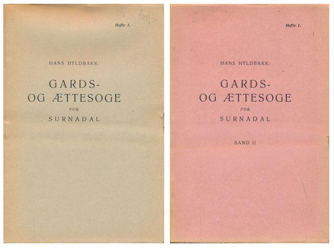 Gards- og ættesoge for Surnadal.