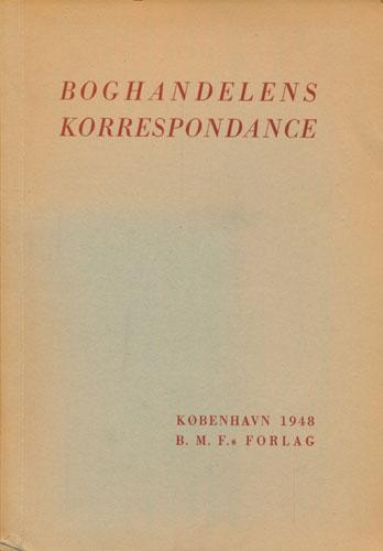 Boghandelens korrespondanse.