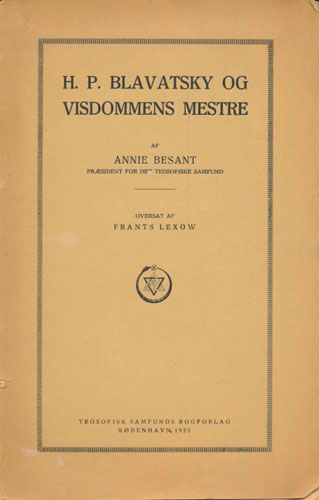 H.P. Blavatsky og visdommens mestre.