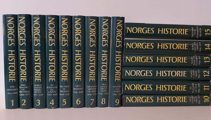 NORGES HISTORIE.  Redaktør Knut Mykland.