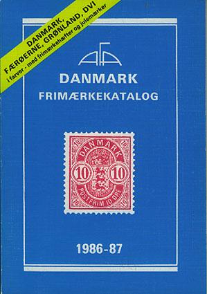 AFA DANMARK.  Færøerne, Grønland, Dansk Vestindien. Frimærkekatalog 1986-87.