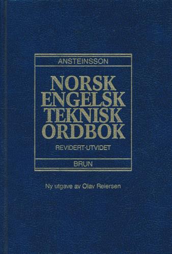 Nors - Engelsk teknisk ordbok.