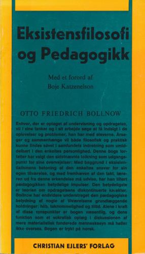 Eksistensfilosofi og pedagogikk.
