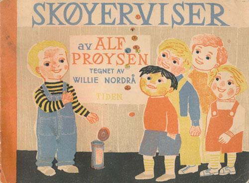 Skøyerviser. Tegnet av Willie Nordrå.