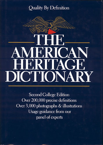 THE AMERICAN HERITAGE DICTIONARY.