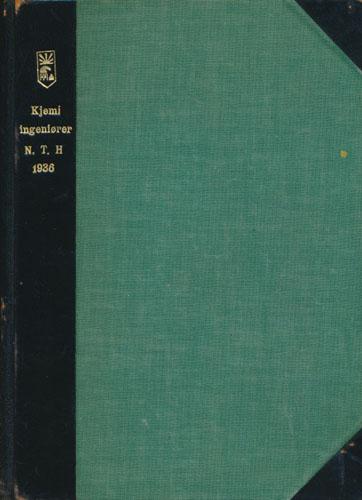KJEMIINGENIØRER N.T.H. 1936.   Fotoalbum med oppklebede originalfotografier, i all hovedsak signerte portretter (heri bl.a. Ove Arbo Høeg).