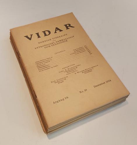 VIDAR.  Nordisk tidsskrift for åndsvidenskap.