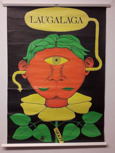UKA-77. LAUGALAGA.  Original plakat (medfølgende programhefte).