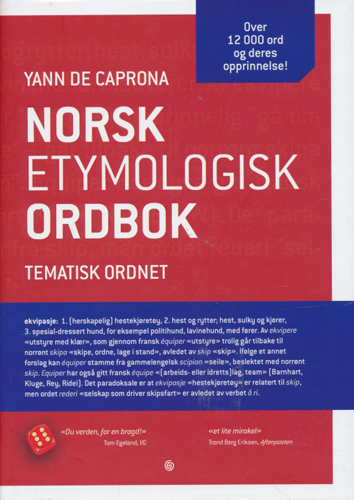 Norsk etymologisk ordbok. Tematisk ordnet.