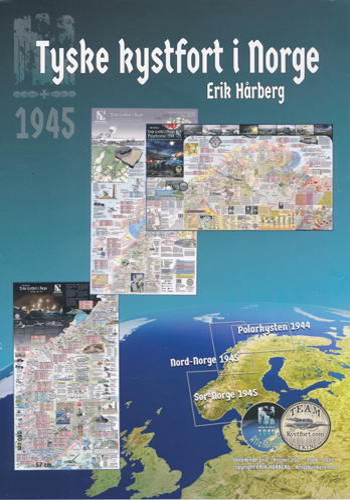 TYSKE KYSTFORT I NORGE.  Komplett sett med tre kart: Polarkysten 1944 / Nord-Norge 1945 / Sør-Norge 1945.