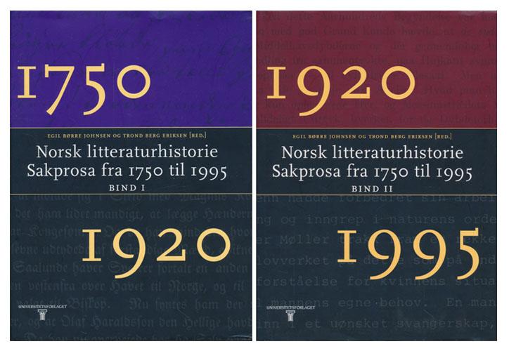Norsk litteraturhistorie. Sakprosa fra 1750 til 1995.