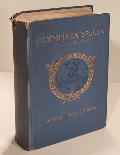 (OLYMPISKE LEKER) V. Olympiaden. Officiell redogörelse för Olympiska Spelen i Stockholm 1912. Utgifen av Organisationskommittén under redaktion af -.