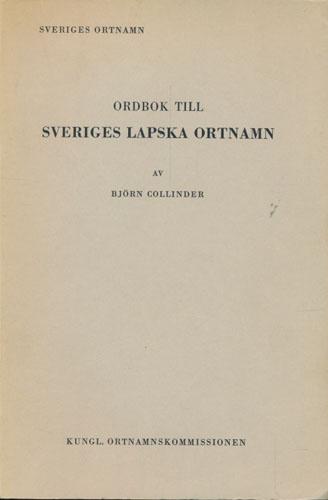 Ordbok til Sveriges lapska ortnamn.