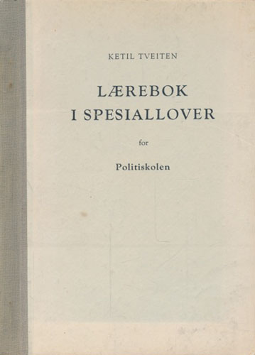 Lærebok i spesiallover for Politiskolen.