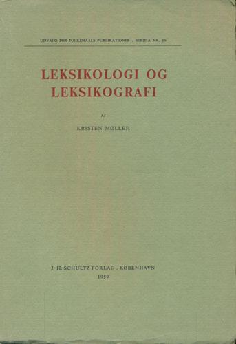 Leksikologi og leksikografi.