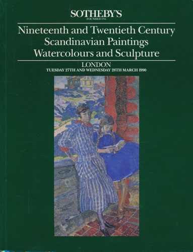 (SOTHEBY'S) Nineteenth and Twentieth Century Scandinavian Paintings, Watercoulours and Sculpture.