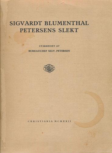 Sigvardt Blumenthal Petersens slekt.