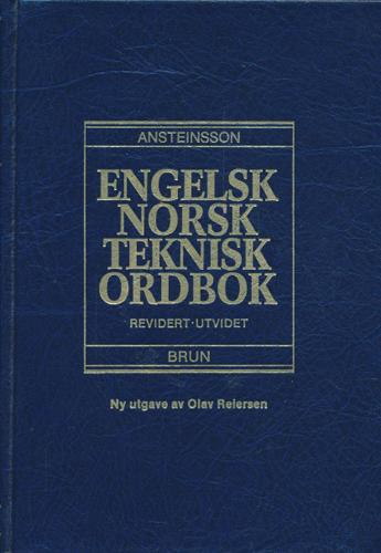 English - Norwegian Technical Dictionary.