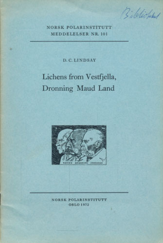 Lichens from Vestfjella, Dronning Mauds land.