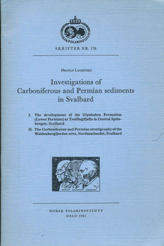 Investigations of Carbiniferous and Permian sediments in Svalbard.