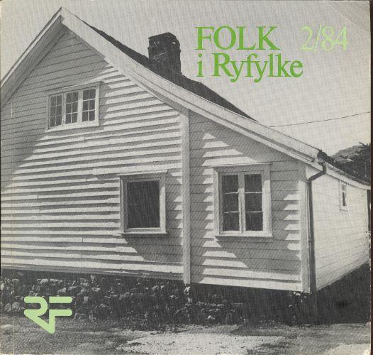 FOLK I RYFYLKE.  Tidsskrift for Ryfylkemuseet.