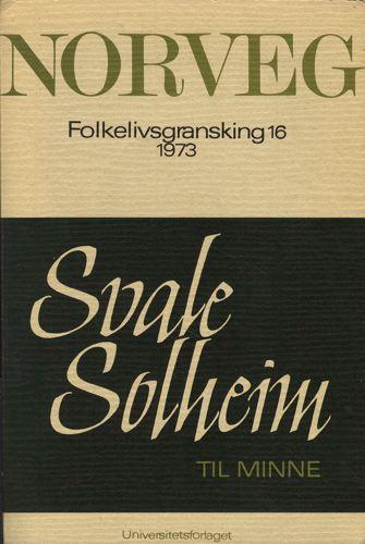 NORVEG.  Tidsskrift for folkelivsgransking. Journal of Norwegian Ethnology.