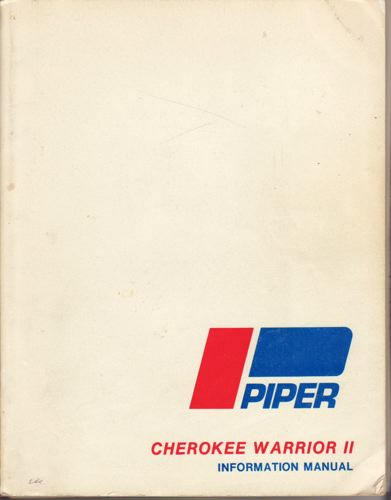 PIPER CHEROKEE WARRIOR II.  Information manual.