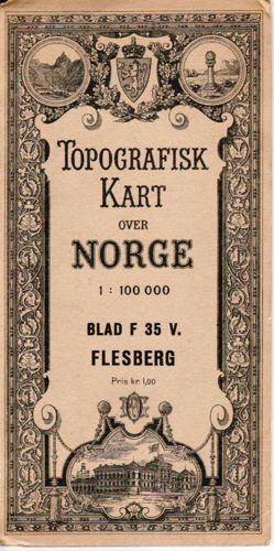 (BUSKERUD) Topografisk kart over Norge. 1:100 000.