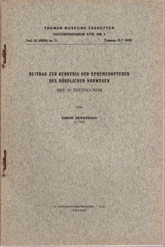 Beitrag zur kenntnis der ephemeropteren des nördlichen Norwegen.