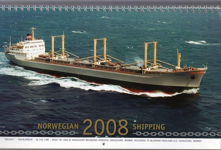 NORWEGIAN SHIPPING.  Kalender Haugesund Mekaniske Verksted.