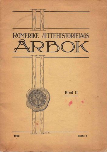ROMERIKE ÆTTEHISTORIELAGS ÅRBOK