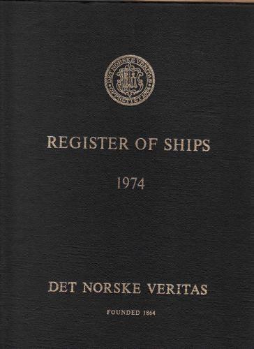 (DET NORSKE VERITAS) Register over Norske, Svenske, Danske og Islandske skip.