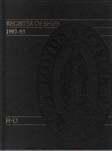 LLOYDS REGISTER OF SHIPS.