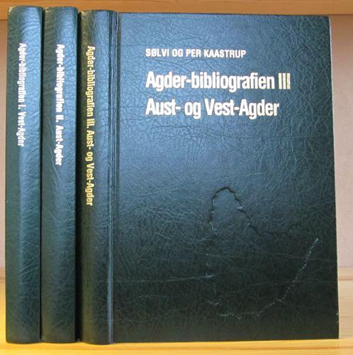 Agder-bibliografien. Lokalhistorisk-topografisk bibliografi for Agderfylkene.