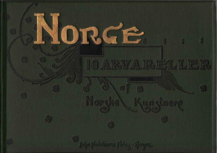 NORGE.  10 akvareller af norske kunstnere.