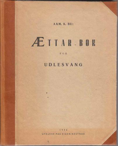 Ættar-bok for Ullensvang.