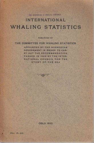 INTERNATIONAL WHALING STATISTIC.
