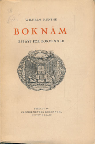 Boknåm. Essays for bokvenner.