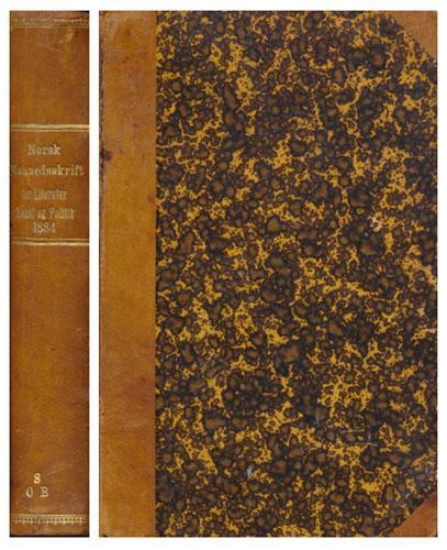 NORSK MAANEDSSKRIFT FOR LITERATUR, KUNST OG POLITIK.  Udgivet af D. Meidell.