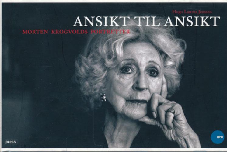 (KROGVOLD, MORTEN) Ansikt til ansikt.. Morten Krogvold portretter (tittel på fordekker og vareomsl.).