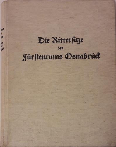 Die Rittersitze des Fürstentums Osnabrück.