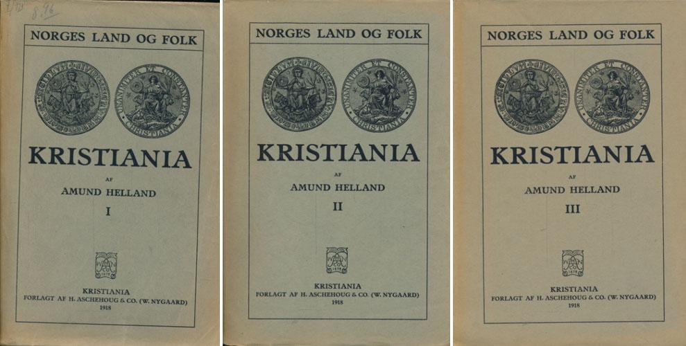 Topografisk-statistisk Beskrivelse over Kristiania.