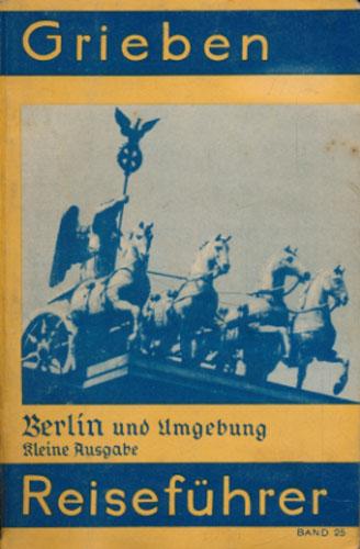 BERLIN UND UMGEBUNG.  Klein Ausgabe mit Angaben  für Automobilisten.