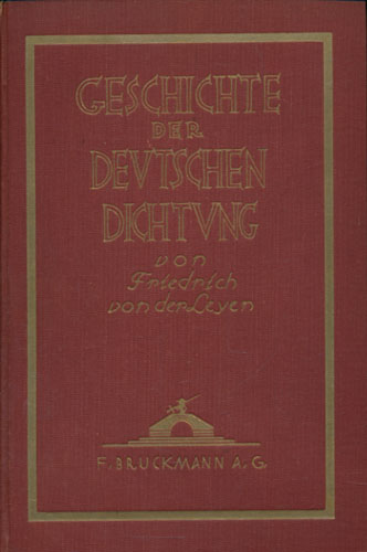 Geschichte der deutschen Dichtung. Ein Überblick von -.