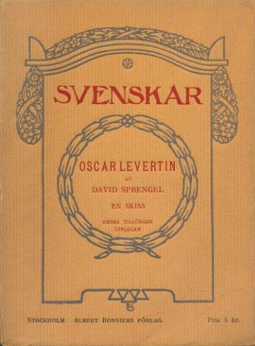 (LEVERTIN) Oscar Levertin. En skiss.