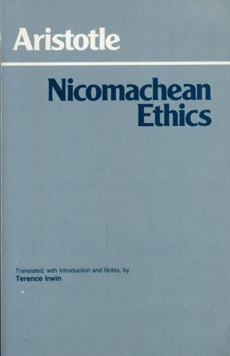 Nicomachean Ethics. Translated, with introduction, notes, and glossary, by Terence Irwin.