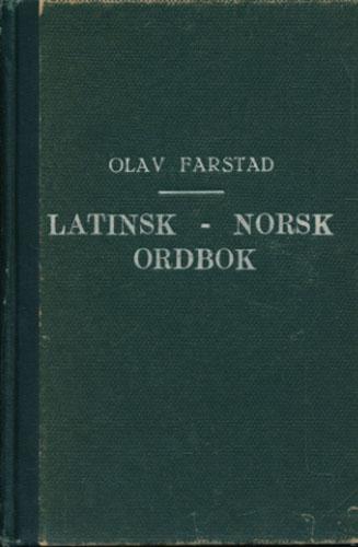 Latinsk-norsk ordbok.
